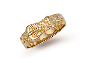 9ct gold belt and buckle ring r77
